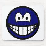 Pinstripe smile   mousepad