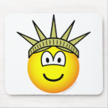 Emoticon of liberty   mousepad