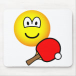 Table tennis playing emoticon ping pong  mousepad