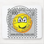 Stamped stamp emoticon   mousepad