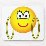 Big hoop earrings emoticon   mousepad
