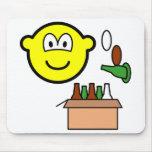 Bottle bank buddy icon Recycling  mousepad