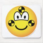 Crash test dummy emoticon   mousepad