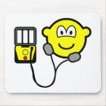 Heart defibrillator buddy icon   mousepad