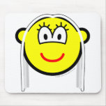 White haired buddy icon   mousepad