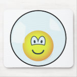 Emoticon living in a bubble   mousepad