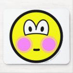 Blushing smile   mousepad