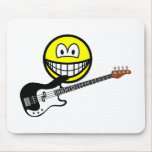 Bass playing smile   mousepad