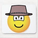 Cowboy emoticon   mousepad