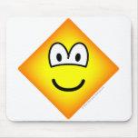 Diamond emoticon Shape  mousepad