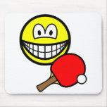 Table tennis playing smile ping pong  mousepad