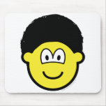 Afro buddy icon   mousepad