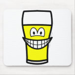 Beer glass smile   mousepad