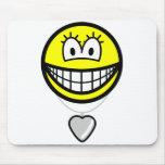 Heart shaped locket smile   mousepad