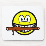 Fetching stick smile Dog  mousepad