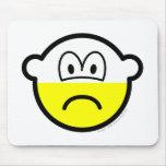 Half empty buddy icon Pessimist  mousepad