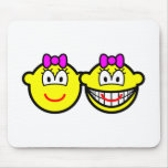 Identical twins buddy icon Girls  mousepad
