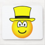 Yellow hat emoticon Six Thinking Hats - Speculative positive  mousepad
