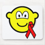 Aids awareness buddy icon Red ribbon  mousepad