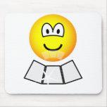 Face sun reflector emoticon   mousepad
