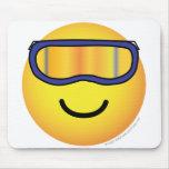 Skier emoticon (it's colder)  mousepad