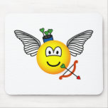 Cupid emoticon   mousepad