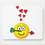 Cupids hit emoticon   mousepad