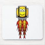Jetpack emoticon   mousepad