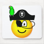 Pirate with parrot emoticon   mousepad