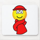 Cold weather emoticon   mousepad