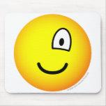 One eyed emoticon right  mousepad