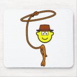 Cowboy lasso buddy icon   mousepad