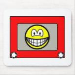 Etch a sketch smile   mousepad