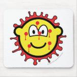Bloody mesh buddy icon   mousepad