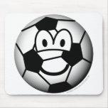 Soccer ball emoticon   mousepad
