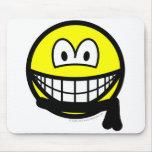 Black belt smile   mousepad
