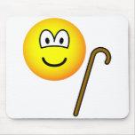 Walking cane emoticon   mousepad