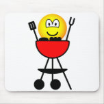 BBQ emoticon   mousepad