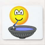 Water fountain emoticon drinking  mousepad