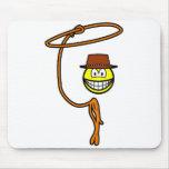 Cowboy lasso smile   mousepad