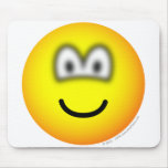 Blurry eyed emoticon   mousepad