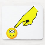 Pointed at emoticon   mousepad