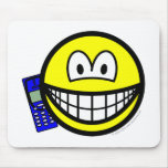 Mobile phoning smile   mousepad
