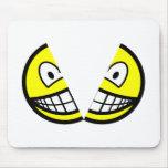 Split smile   mousepad