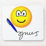 Writing emoticon   mousepad