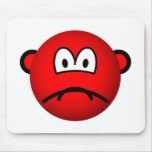 Sad red smile   mousepad