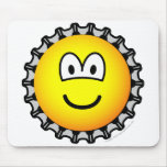 Bottle cap emoticon   mousepad