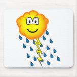 Thunder cloud emoticon   mousepad