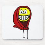 Hoodie smile   mousepad