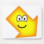 Down right emoticon arrow  mousepad